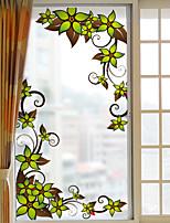 Floreale Adesivo per finestre,PVC / Vinile Materiale decorazione della finestra