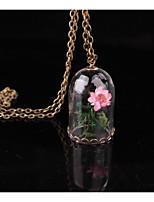 Per donna Collane con ciondolo A tubo A forma di fiore Lega Fantasia floreale Gioielli Per Matrimonio Feste Compleanno Quotidiano