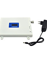 GSM DCS Mobile Phone Signal Booster 2G 900mhz 1800mhz Signal Repeater Amplifier with 12v Power Supply LCD Display / White
