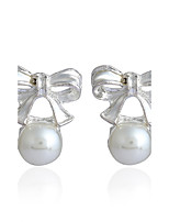 Women's Stud Earrings Basic Hypoallergenic Simple Style Classic Imitation Pearl Rhinestone Alloy Jewelry For Gift Daily Casual Street