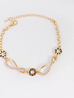 Bracelet Chain Bracelet Tennis Bracelet Alloy Rhinestone Irregular Fashion Birthday Gift Daily Casual Jewelry Gift Gold Silver,1pc