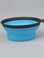 Dog Bowls & Water Bottles Pet Bowls & Feeding Portable Foldable Blushing Pink Blue Green Red Yellow