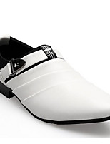 Men's Loafers & Slip-Ons Comfort Spring Fall PU Casual Brown Black White Under 1in
