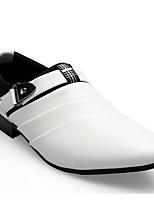 Da uomo Mocassini e Slip-Ons Comoda Primavera Autunno PU (Poliuretano) Casual Bianco Nero Marrone Meno di 2,5 cm