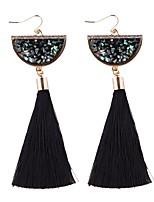 Women's Drop Earrings Rhinestone Tassel Fashion Alloy Geometric Jewelry For Party Casual