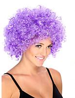 Parrucche sintetiche Senza tappo Medio Riccio Viola Parrucca riccia stile afro Per donne di colore Parrucca Cosplay costumi parrucche