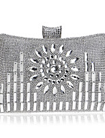 cheap -Bags Polyester Evening Bag Crystal Detailing for Wedding Event/Party All Seasons Gold Black Silver