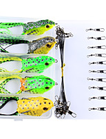 Anmuka Topwater Frog Lure Fishing Lure 25Pcs/Box Set Kit Plastic Soft Lure with Lead For Bass Snakehead Fishing