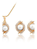 Women's Pendant Necklaces Necklace Fashion Classic Imitation Pearl Rhinestone Gold Plated For Wedding Gift Daily Ceremony Office & Career