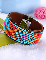 Women's Bracelet Strand Bracelet Handmade Bohemian Classic Leather Circle Jewelry For Wedding Daily Casual Going out