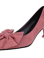 Femme Chaussures à Talons Confort Eté Cachemire Habillé Noeud Talon Aiguille Noir Jaune Rose 7,5 à 9,5 cm