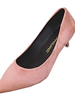 Women's Heels Light Soles Spring Fall PU Casual Dress Kitten Heel Blushing Pink Gray Beige Black 1in-1 3/4in