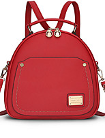 Women Bags All Seasons PU Backpack for Casual White Red Blushing Pink Sky Blue