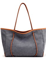 Women Bags All Seasons Canvas Shoulder Bag for Casual Blue Beige Gray Coffee