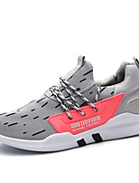 Men's Sneakers Running Comfort Tulle Spring Fall Athletic Casual Outdoor Gore Flat Heel Gray Black Flat