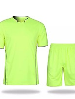 Non spécifié Football Shirt Fitness, course et yoga Antiusure Respirabilité Toutes les Saisons Couleur Pleine Polyester Course Football
