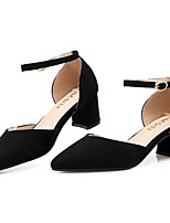 Women's Heels Basic Pump Summer Leather PU Casual Black Gray Blushing Pink 2in-2 3/4in