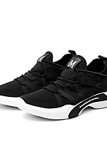 Men's Sneakers Comfort Light Soles Fall Winter Fabric Casual Outdoor Low Heel Gray Black White Under 1in