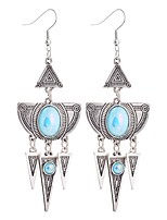 Women's Drop Earrings Imitation Sapphire Floral Gray Pearl Geometric Jewelry For Party Gift Evening Party Stage