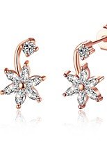 Women's Stud Earrings Crystal Cubic Zirconia AAA Cubic Zirconia Cute Style Fashion Punk Hip-Hop Simple Style Crystal Zircon Alloy Star