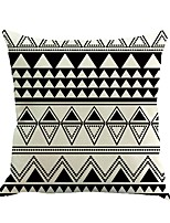 1 Pcs Black & White Geometry Printing Pillow Case Creative Classic Sofa Cushion Cover Home Decor Pillow Cover