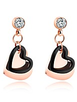 Peach heart-shaped earring ear-drop earrings with a simple earring