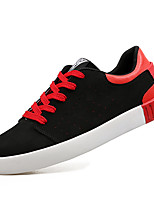 Men's Sneaker Light Sole Spring Summer Leatherette Casual Office & Career Lace-up Flat Heel Black/Red Black/White Black Flat