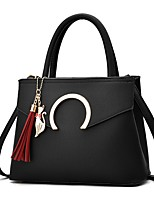 Women Bags Spring/Fall All Seasons PU Shoulder Bag Ruffles Zipper Tassel for Wedding Event/Party Casual Formal Outdoor Office & Career