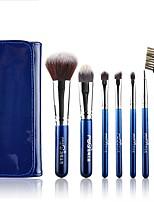 1set Bürsten-Satz- Künstliches Haar Einfach zu tragen Multi-Tool Aluminium Holz Herren Gesicht Unisex Auge Alltag Gesundheit & Schönheit