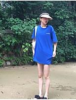 T-shirt Da donna Per uscire Moda città Alfabetico Rotonda Cotone Manica corta