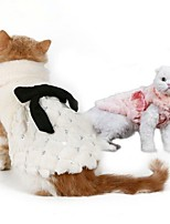 Cat Dog Sweatshirt Dog Clothes Party Keep Warm New Year's Solid Blushing Pink White