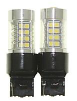 Sencart 2pcs 7440 W21W W3X16D Bulb Led Car Tail Turn Reverse Light Bulb Lamps(White/Red/Blue/Warm White) (DC/AC9-32V)