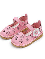 Girls' Sandals Comfort Spring Summer Leatherette Casual White Fuchsia Blushing Pink Flat