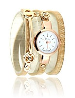 Women's Fashion Watch Bracelet Watch Quartz PU Band Black White Blue Red Brown Green Pink Beige