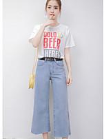 T-shirt Pantalone Completi abbigliamento Da donna Casual Semplice Estate,Frasi e citazioni Rotonda Manica corta