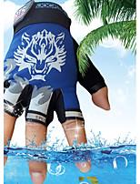 Men's Cotton Nylon Wrist Length Half Finger Soak Off Outdoor Sports Animal Print Spring/Fall Summer Cycling Bike Gloves Blue/Black/Grey/Red