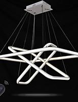 Lustre gradable led éclairage intérieur moderne plafond suspendu lumières chandeliers luminaires avec télécommande