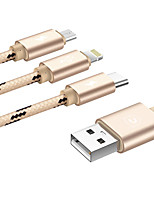 USB 2.0 Adapterkabel, USB 2.0 to USB 2.0 Typ C Micro USB 2.0 Lightning Adapterkabel Male - Male 1.2m (4Ft)
