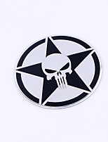 Automobil-Seitenmarkierung Zink-Legierung Metall Schädel Logo
