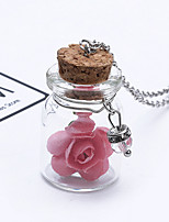 Жен. Ожерелья с подвесками В форме трубки В форме цветка Сплав Мода обожаемый Бижутерия Назначение Свадьба Для вечеринок День рождения