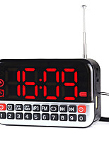 L-80 Portable Radio Big Screen Alarm Clock U Disk Card Time Off Power Off Memory