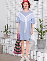 Tee-shirt Femme,Couleur Pleine Décontracté / Quotidien simple Demi Manches Col Arrondi Coton