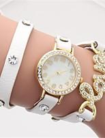 Per donna Orologio alla moda Orologio braccialetto Quarzo PU Banda Nero Bianco Blu Marrone Verde