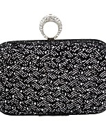 Women Bags All Seasons Polyester Evening Bag Rhinestone Chain for Wedding Event/Party Casual Formal Office & Career Gold Black