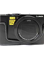 Dengpin PU Leather Half Camera Case Bag Cover Base for Panasonic DMC-LX10GK-K LX10 (Assorted Colors)