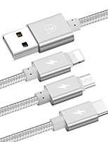 USB 2.0 Cable, USB 2.0 to USB 2.0 Tipo C Micro USB 2.0 Lightning Cable Macho - Macho 1.2m (los 4Ft)