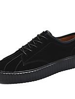 Da uomo Sneakers Footing Comoda Cuoio Autunno Inverno Casual Lacci Piatto Nero Giallo Piatto