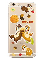 preiswerte -Hülle Für Apple iPhone 7 Plus iPhone 7 Transparent Muster Rückseite Cartoon Design Weich TPU für iPhone 7 Plus iPhone 7 iPhone 6s Plus