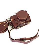 Dengpin Leather Camera Case Bag Cover for Olympus E-PL8 epl8 14-42EZ lens (Assorted Colors)