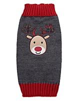 Cane Cappottini Maglioni Abbigliamento per cani Da serata Vacanze Casual Matrimonio Di tendenza Natale Capodanno Natale Grigio